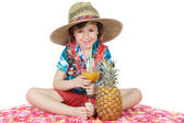 Adorable boy in holidays — Stock Photo