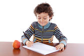 Adorable child studying — Stock Photo