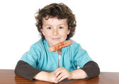 Adorable child eating — Stock Photo