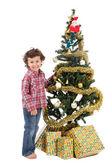 Adorable boy in Christmas — Stock Photo