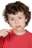 Child cleaning the teeth — Stock Photo