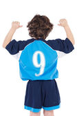 Child with number nine — Stock Photo