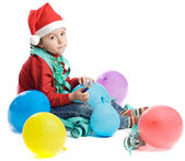 Adorable small boy in Christmas — Stock Photo