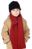 Adorable boy dress for the winter — Stock Photo