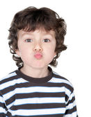 Funny child with striped shirt — Stock Photo