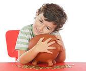Caja de dinero chico whit — Foto de Stock