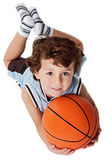 Adorable child playing the basketball — Stock Photo
