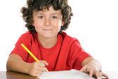 Adorable child studying — Stock Photo