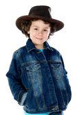 Child wearing a cowboy hat — Stock Photo