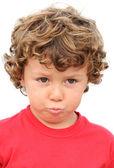 Adorable boy sad — Stok fotoğraf