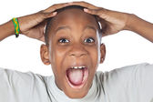 Boy shouting madly — Stock Photo