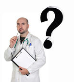 Worried doctor with pensive gesture — Stock Photo