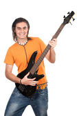 Boy with electrical guitar — Stock Photo