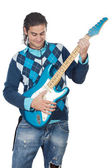 Young playing electric guitar — Stock fotografie