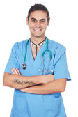 Attractive medicine student — Stock Photo