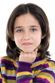 Portrait of adorable girl thinking — Stock Photo