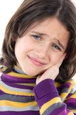 Adorable girl whit toothache — Stock Photo
