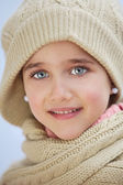 Precious face of an adorable girl — Stock Photo