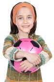 Girl whit ball — Stock Photo