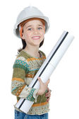Future engineer girl — Stock Photo