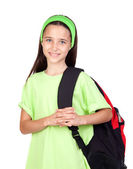Adorable student girl with blue eyes — Stock Photo