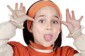 Mocking girl — Stock Photo