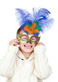 Sevimli çocuk karnaval maskesi — Stok fotoğraf