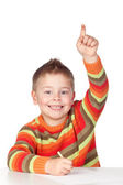 Roztomilé dítě student mluvit — Stock fotografie