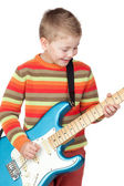 Boy whit electric guitar — Stock Photo