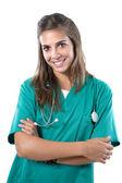 Signora attraente medico — Foto Stock