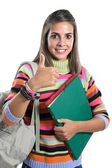 девушка счастлива студенческое — Стоковое фото