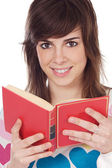 Attractive girl student — Stock Photo