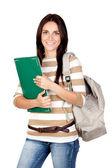 Attractive student girl — Stock Photo