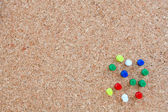 Corkboard informative without any notes — Stock Photo
