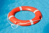 Red lifesaving float — Stock Photo