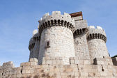 Great gray stone castle — Stock Photo