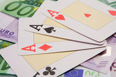 Poker of four aces — Stock Photo