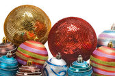 Different balls of christmas — Stock Photo