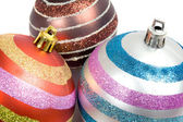 Three balls of christmas — Stock Photo