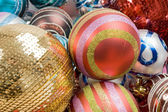 Different balls of christmas — Stockfoto