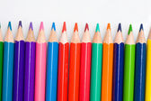 Many pencils of different colors — Stock Photo