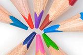 Many colors pencils — Stock Photo