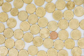 Many coins cents Euro — Stock Photo