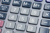 Macro of calculator — Stock Photo