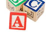 Alphabet blocks — Stock Photo