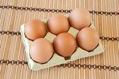 Half dozen eggs — Stock Photo