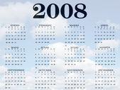 Kalender för 2008 — Stockfoto