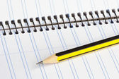 Pencil and notebook — Foto de Stock