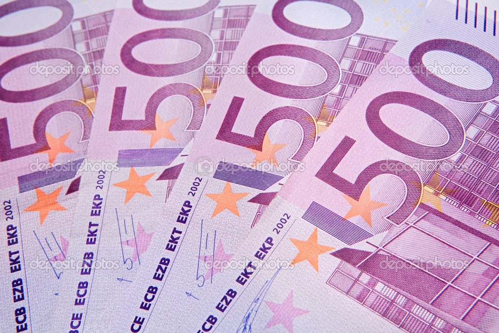 Four notes of five hundred of euros  Stock Photo #9437981