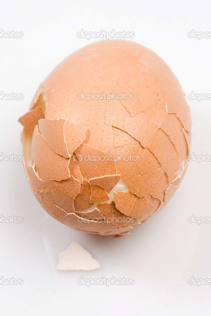 Photo of a boiled egg broken close — Stock Photo #9438448